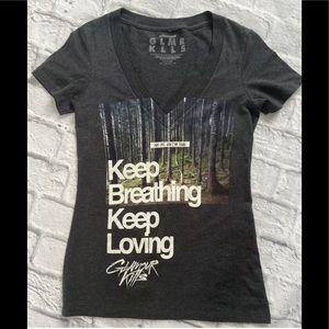 🍉3/$20 GLAMOUR KLLS Keep Breathing t-shirt